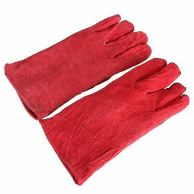 5X(1 pair WELDERS Welding Glove Arc Tig Mig Welding leather work gloves 33cm)