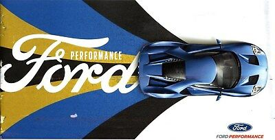 """Ford Performance Brochure, 2017, 14 Pages, Measures 10"""" x 6"""", Collectible Item!"""
