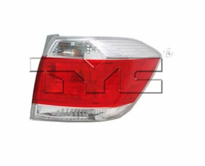 TYC NSF Right Side Tail Light Assy for Toyota Highlander US Built 2011-2013
