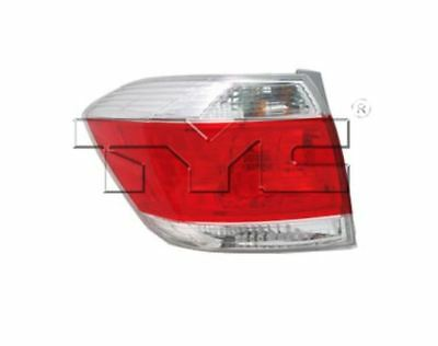 TYC NSF Left Side Tail Light Assy for Toyota Highlander US Built 2011-2013
