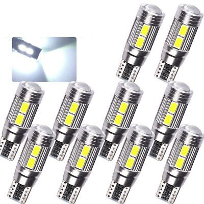 10 X CANBUS ERROR FREE 6000K White T10 10SMD 5630 LED Bulbs Car Side Light Lamp