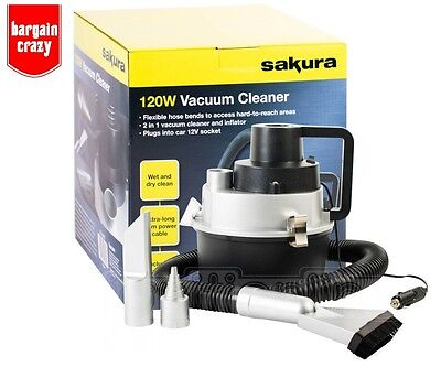 SEAT TOLEDO (2004-DATE) 12v Wet And Dry Car Vacuum Cleaner Hoover