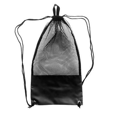 Scuba Diving Snorkel Fins Mesh Drawstring Gear Bag Backpack & Shoulder Strap