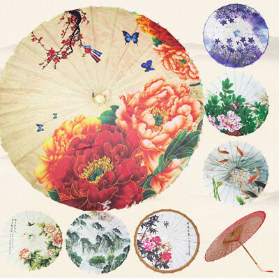 Chinese National  Handmade Oil Paper Umbrella Parasol Dance Perform Wedding Prop