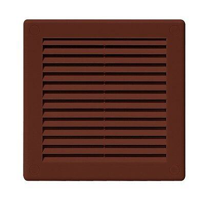 "Brown Air Vent Grille 150mm x 150mm / 6"" x 6"" Louvred Ventilation Cover TRU1BR"