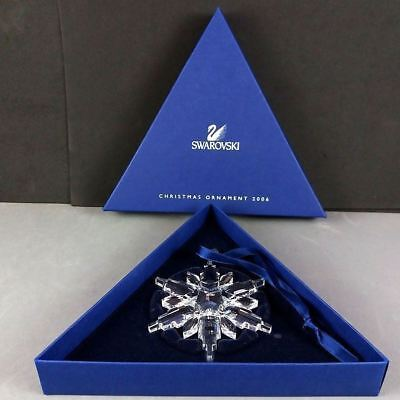 Swarovski Large 2006 Crystal Snowflake Star Christmas Ornament in Box