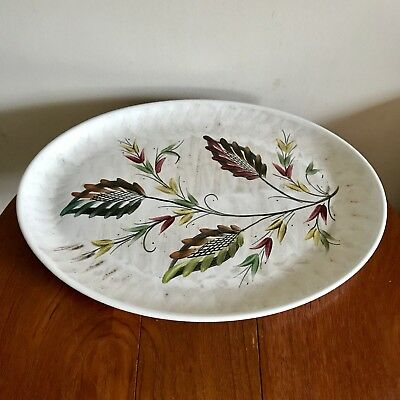 Denby Stoneware Glyn Colledge Oval Plate Hand Painted Art Pottery