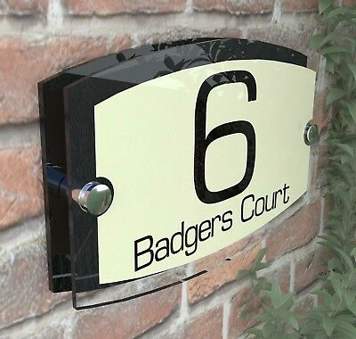 Classic Cream House Signs Plaques Door Numbers 1 - 999 Personalised ESTA5-8BVP