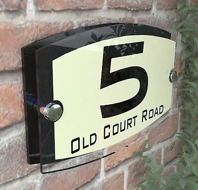 Classic Cream House Signs Plaques Door Numbers 1 - 999 Personalised ESTA5-10BVP
