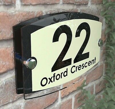 Classic Cream House Signs Plaques Door Numbers 1 - 999 Personalised ESTA5-19BVP