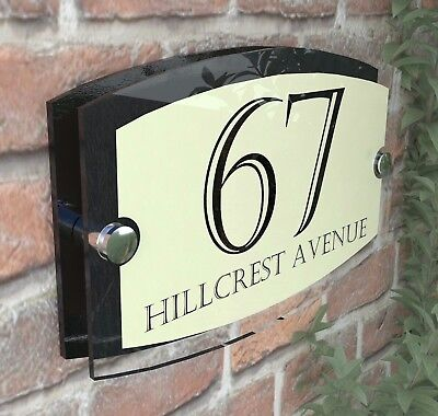 Classic Cream House Signs Plaques Door Numbers 1 - 999 Personalised ESTA5-24BVP