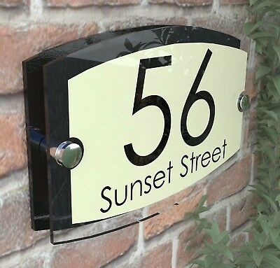 Classic Cream House Signs Plaques Door Numbers 1 - 999 Personalised ESTA5-27BVP