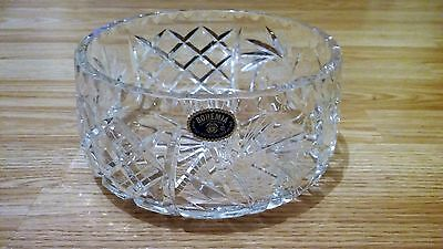 Bohemia Heavy Superb Quality Cut Glass Crystal Fruit/salad/serving Bowl