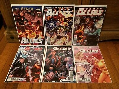 Complete Set Young Allies #1 2 3 4 5 6 Marvel Comics (2010) VF/NM