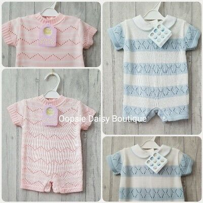 Baby Girls & Boys Gorgeous Spanish Romany Style Knitted Rompers ☆