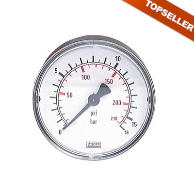 Manometer, Pneumatic, Horizontal, Connection Rear Small 2.5 div. mod. Type