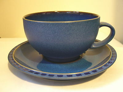 DENBY - REFLEX - LARGE BREAKFAST CUP AND SAUCER - GOOD USED CONDITION*y