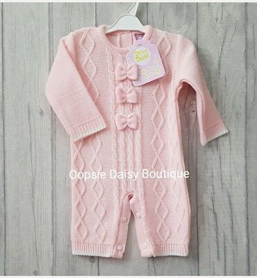 Baby Girls Gorgeous Spanish Romany Style Knitted Bow Romper ☆