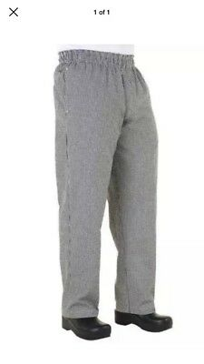 Chef Works Chef Pants Classic Fit Baggy Checkered Restaurant Elastic size 2XL