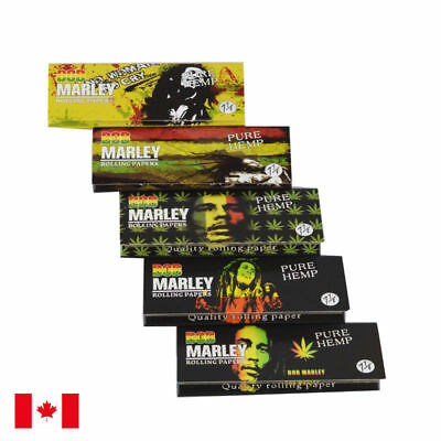 Bob Marley 1 1/4 Size Brown Pure Hemp Cigarette Rolling Papers - 5 Packs