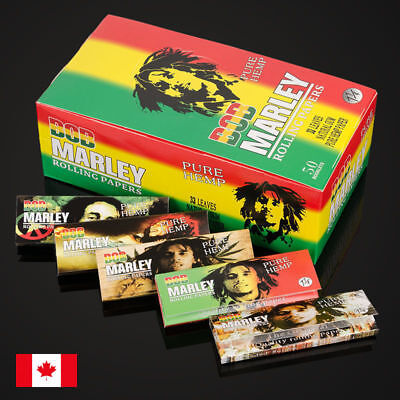 Bob Marley 1 1/4 Size Pure Hemp Cigarette Rolling Papers - 5 Packs
