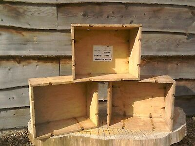 Vintage Wooden Box Crate (old box shabby chic storage cool rustic wedding deco)