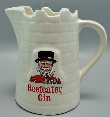Beefeater Gin Ceramic Advtg. Pitcher by KOBRAND, England