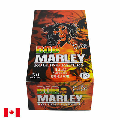 Bob Marley Brown Pure Hemp 1 1/4 Rolling Papers - 1 Box 50 Booklets