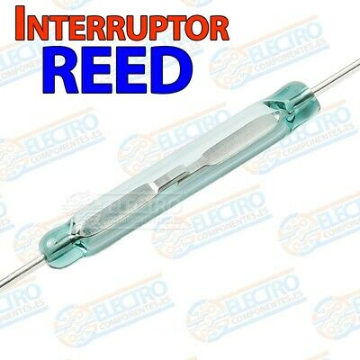 Interruptor magnetico REED switch SPST NO abierto cristal 14x2mm - Lote 1 unidad