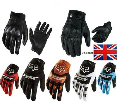 Motorbike Motorcycle Gloves Short Leather Protection Bomber full finger