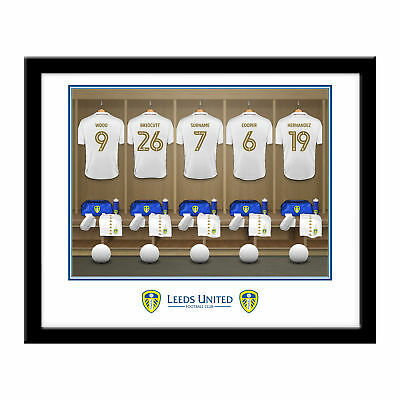 PERSONALISED Leeds United FC Dressing Room Framed Print 16x13 Xmas Football Gift