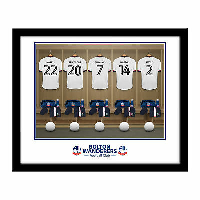 PERSONALISED Bolton Wanderers FC Dressing Room Framed Print 16x13 Football Gift