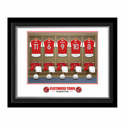 PERSONALISED Fleetwood Town FC Dressing Room Photo Framed 12x10 Football Gift