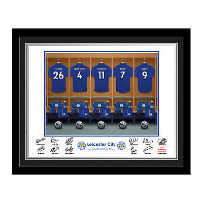 PERSONALISED Leicester City FC Dressing Room Photo Framed 12x10 Football Gift