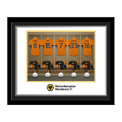PERSONALISED Wolves Dressing Room Photo Framed 12x10 Xmas Football Gift