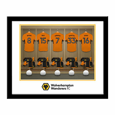 PERSONALISED Wolves Dressing Room Framed Print 16x13 Xmas Football Gift