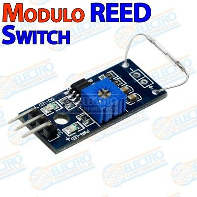 Modulo magnetico REED switch SPST NO abierto cristal 14x2mm - Arduino Electronic