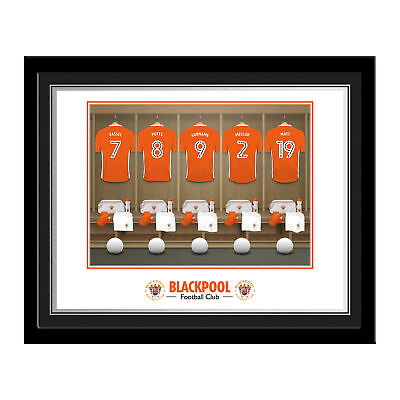 PERSONALISED Blackpool FC Dressing Room Photo Framed 12x10 Xmas Football Gift