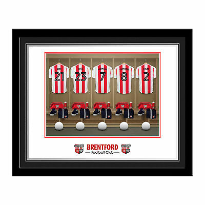 PERSONALISED Brentford FC Dressing Room Photo Framed 12x10 Xmas Football Gift