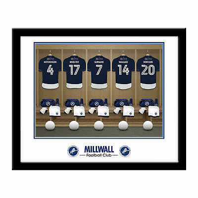PERSONALISED Millwall FC Dressing Room Framed Print 16x13 Xmas Football Gift