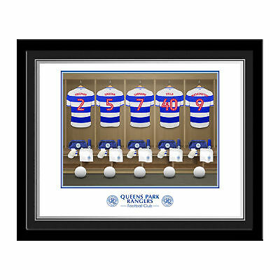 PERSONALISED Queens Park Rangers FC Dressing Room Photo Framed Football Gift