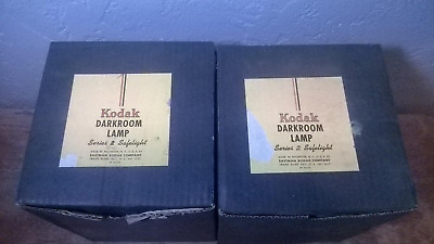 2 Kodak Dark Room Safe Lights Series 2 From the 1950s IN ORIGINAL BOXES ,