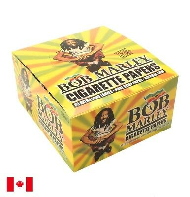 Bob Marley Pure Hemp Rolling Papers King Size - 1 Box 50 Booklets