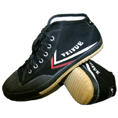 Feiyue Wushu Training Shoes Hightop Black Martial Arts Kung Fu Slippers Trainers
