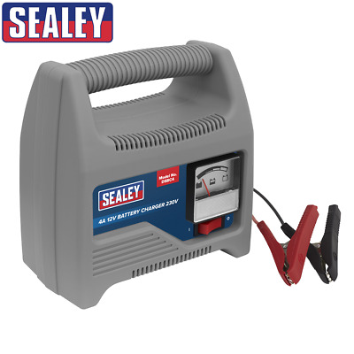 Sealey STC60 Battery Charger 6/12V 6Amp 230V Automatic Car Van Bike Lawn Mower