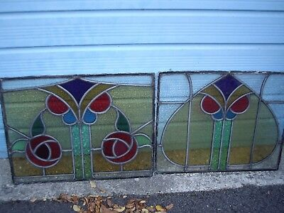 leaded light victorian stained glass 4 panes