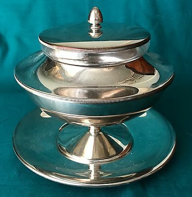 Silver Plated Round Caviar Serving Dish Set - Perfect for Elegant Entertaining