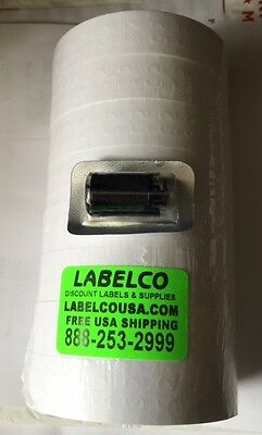 160,000 (8 Pks)White Labels 4 Monarch 1131 Free Freight*includes Inkers Usa Made