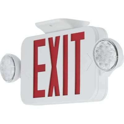 Progress Lighting PECUE-UR-30 Exit Signs Red LED Exit Sign with Flood Lights