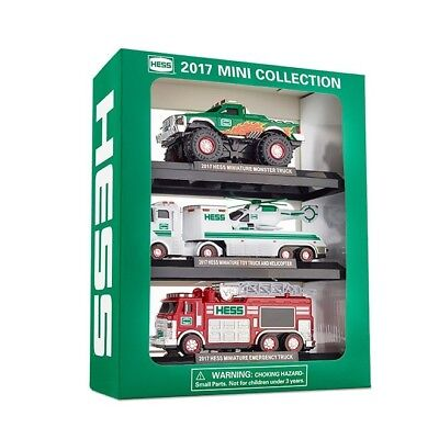 2017 Mini HESS Collection - 3 Mini HESS Toy Trucks - Limited Edition - Brand New